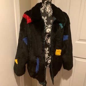 Vintage Reversible Rabbit Fur Jacket